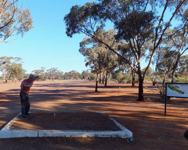 John tee off at Kambalda